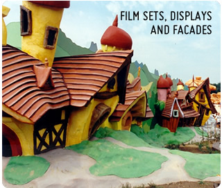 Film Sets : Polystyrene and Foam